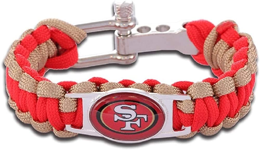 Military Grade Paracord GeauxDat Collectibles American Football Team Bracelets