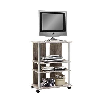 FMD Moebel 205-007 Variant 7-Mueble para televisor con ruedas con 3 ...