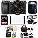 Sony α6300 Mirrorless Digital Camera (Black) with 18-135mm Lens and T E 16-70mm