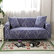 Sofa Slipcovers Sundlight Polyester Geometry Pattern Anti-Slip Grip Couch Cover - Furniture Protector with Stay Put Straps and Water Resistant Microsuede Fabric