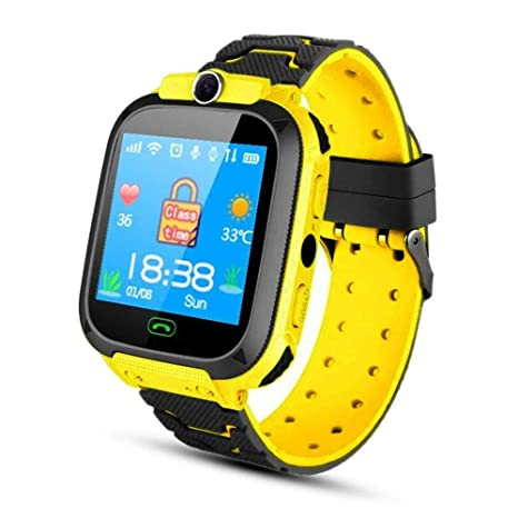 Lesgos Kids GPS Tracker Watch Boys Girls Smart Watch Phone for Children Student Smartwatch 1.44 Inch Touch Glass Sport Wrist with Position Tracker ...