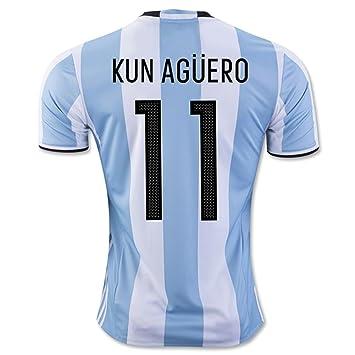 2016 2017 Argentina 11 Sergio Aguero Home Football Soccer Jersey In White f11024e90