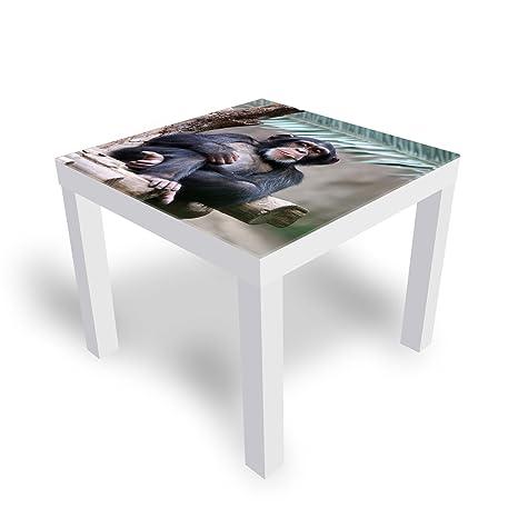 pas cher pour réduction 58826 94b25 DekoGlas Table d'appoint décorative IKEA en Verre laqué ...