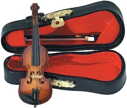 GEWA 980600 - Instrumentos en miniatura, violin con arco y estuche, 9 cm: Amazon.es: Instrumentos musicales