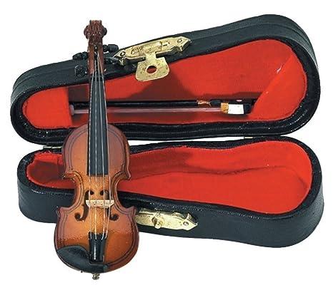 GEWA 980600 - Instrumentos en miniatura, violin con arco y estuche, 9 cm