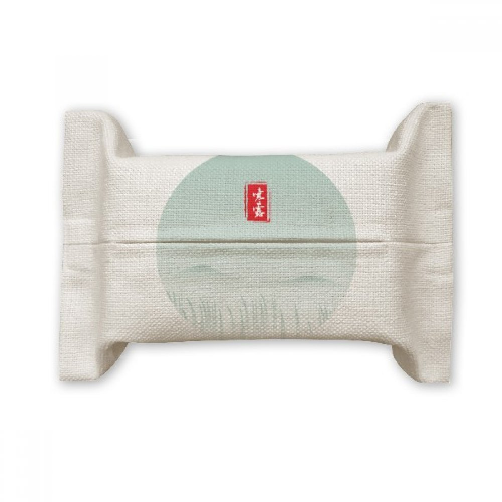 DIYthinker Cold Dew Twenty Four Solar Term Pattern Cotton Linen Tissue Paper Cover Holder Storage Container Gift