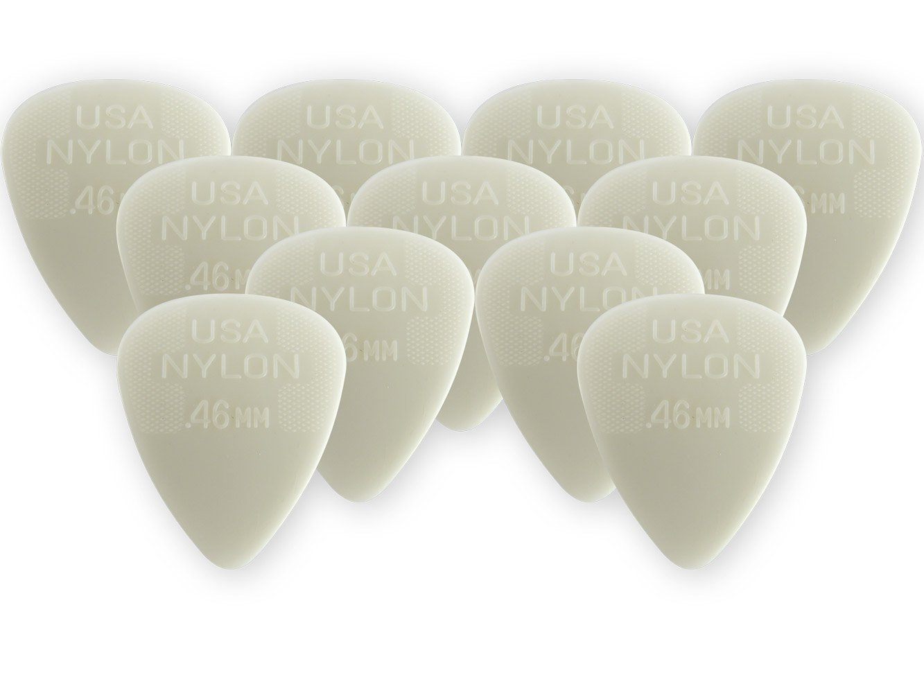 Dunlop 44P46 .46mm Nylon Standard Guitar Picks, 12-Pack JD-44P.46