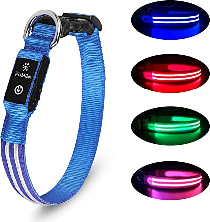 X-Large Paws /& Pals LED Pet Neck Collar Flashing Color Light Up Night Safety Strap Pink