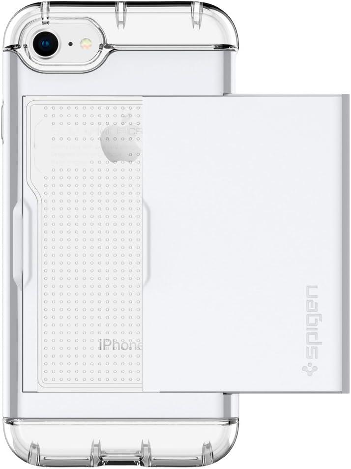 Spigen Crystal Wallet Designed for Apple iPhone 7 Case (2016) / Designed for iPhone 8 Case (2017) - Jet White