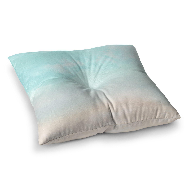 26 x 26 Square Floor Pillow Kess InHouse Michelle Drew Vintage Skies Blue Photography