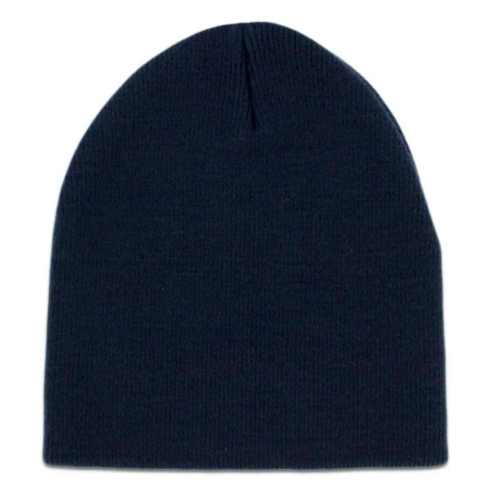 7f31060e53 Amazon.com  Solid Navy Blue Knit Beanie Stocking Cap Winter Hat Mens Womens  Unisex  Clothing