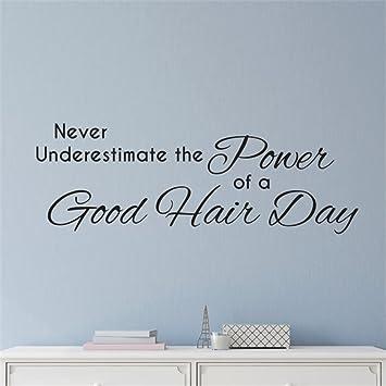 Hair Stylist Wall Decal, Good Hair Day, Girl Quotes, Hair Salon, Spa