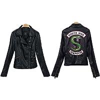 StMandy Chaqueta Riverdale Chaqueta de Serpientes roja para niñas Chaqueta de Motociclista Southside Black Leather…