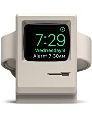 elago W3 Stand Compatible with Apple Watch Series 4 (40mm) / Series 3 / Series 2 / Series 1 / 42mm / 40mm / 38mm [Nightstand Mode][Original Design Awards][Patent Pending] - White