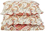 Patch Magic Old Rose Corona 3-Piece Quilt Set Queen, Floral, COLONIAL BLUE