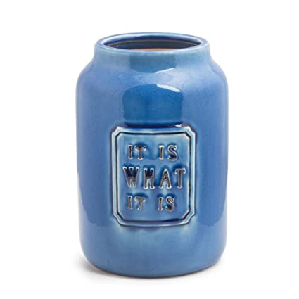 Buy Chumbak It Is What It Is Vase Blue Online At Low Prices In