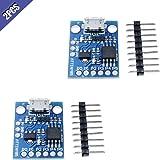 Ximimark 2Pcs Digispark Kickstarter Mini ATTINY85 USB Development Board Module for Arduino IDE 1.0