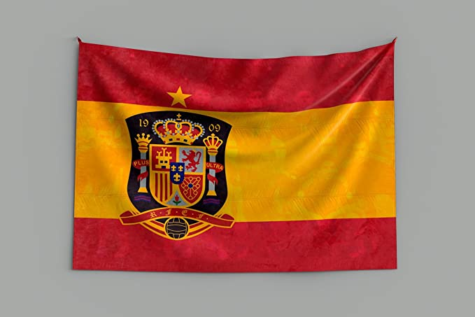 Oedim Bandera de España Campeona del Mundo   Especial Mundial 2018 Rusia 150x80cm   Bandera de España Resistente al Agua Reforzada y con Pespuntes   Ideal para Decoración: Amazon.es: Hogar