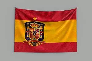 Oedim Bandera de España Campeona del Mundo | Especial Mundial 2018 Rusia 150x80cm | Bandera de España Resistente al Agua Reforzada y con Pespuntes | Ideal para Decoración: Amazon.es: Hogar