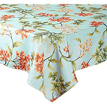 Amazon Com Springtime Blossoms On Blue Print Zippered