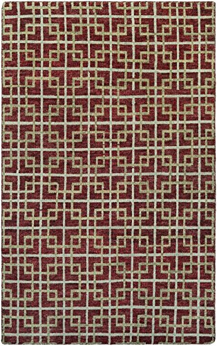 Retrograde Collection (Couristan Contemporary Rectangle Area Rug 5'6