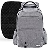 Large Diaper Bag Backpack with Stroller Straps - Baby Changing Mat & 18 Pockets - Insulated Milk Bottle Pockets - Water Resistant Unisex Design for Men & Women