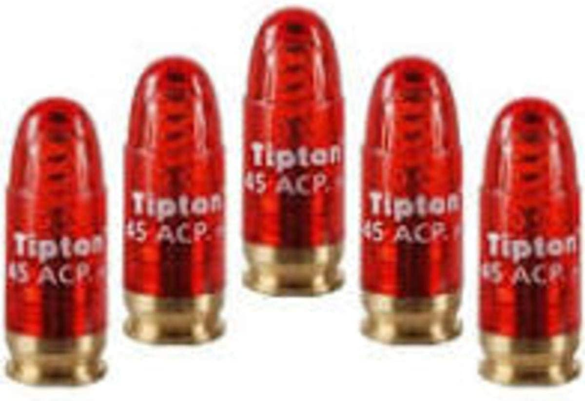 Tipton Pistol Snap Caps .45 ACP with False Primer and Reusable Construction for Dry-Firing, Practice and Safe Firearm Storage, 5 Pack : Gunsmithing Tools And Accessories : Sports & Outdoors