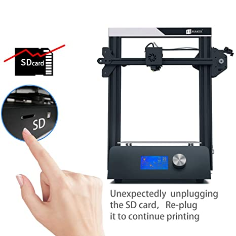 JGAURORA Magic High Precision DIY 3D Printer with Metal Base Filament Run Out Detection Resume Print and Build-in Power Supply 220x220x250mm