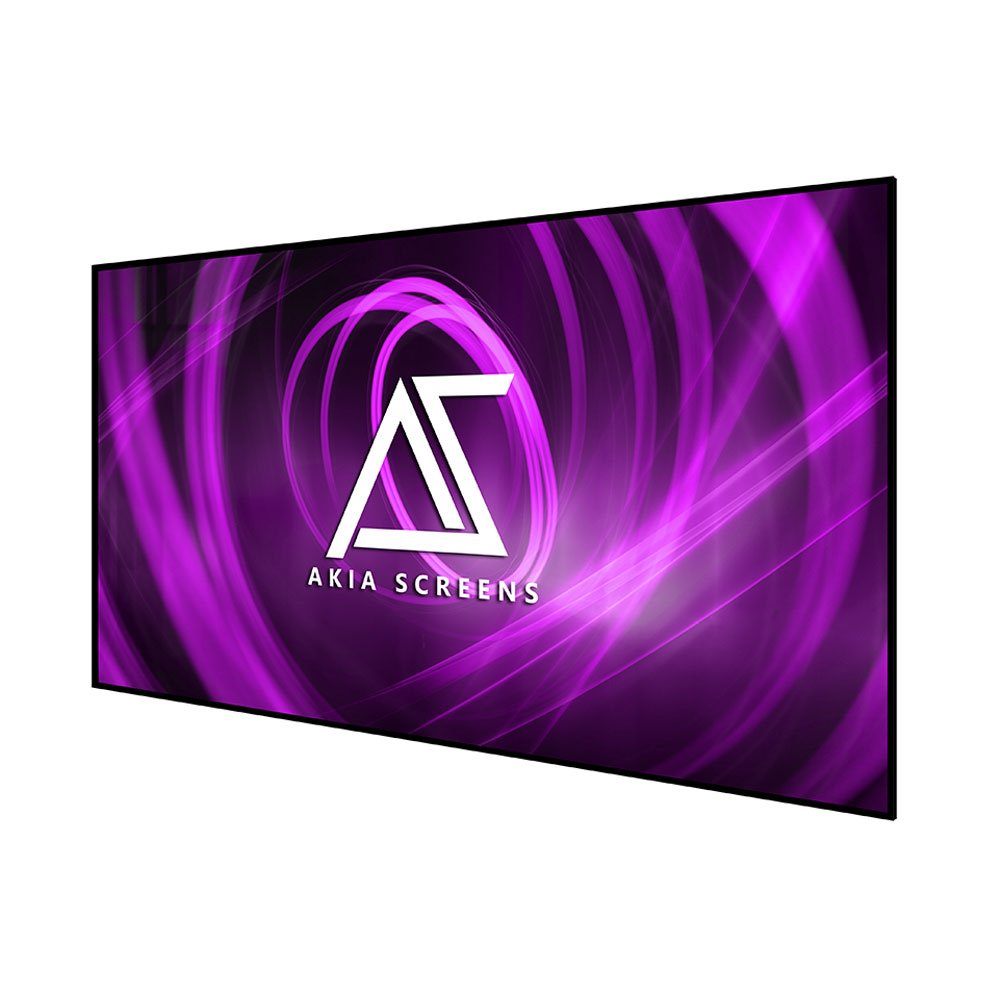 "Akia Screens 100"" Edge Free Fixed Projector Screen, 100 inch Diagonal 16:9, 8K / 4K Ultra HD 3D Ready Thin Edge Projection Screen, AK-NB100H"