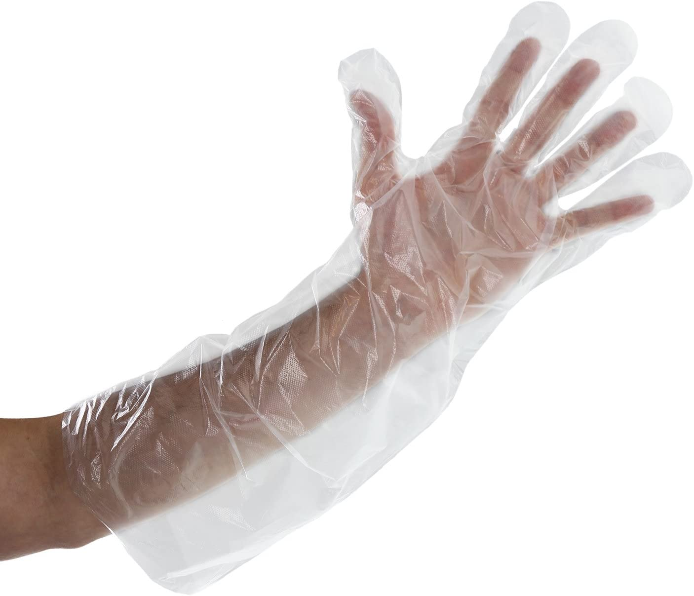 Royal Elbow Disposable Poly Gloves, 21.5 Inch, Box of 100