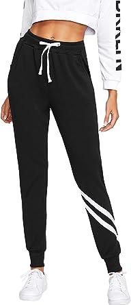 SOLY HUX Mujer Pantalones de chándal con Cintura elástica y ...