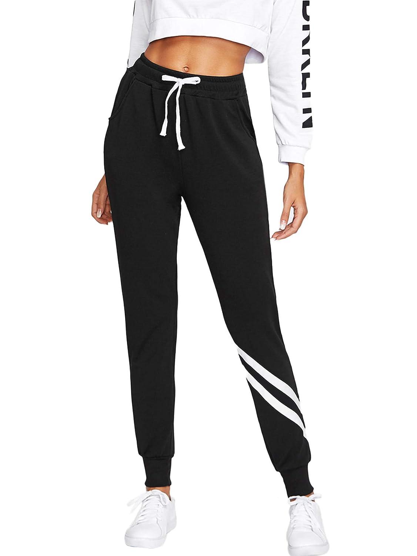 TALLA XL. SOLY HUX Mujer Pantalones de chándal con Cintura elástica y Bolsillos, cordón Ajustable