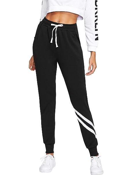 besser später am besten online SOLY HUX Damen Sweatshose Streifen Sweatpants Elastischer Bund Hose  Jogginghose mit Taschen, Kordelzug