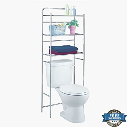 bathroom etagere over toilet spacesaver storage shelving rack 3 tiers bathroom organizer versatile accessory standing bath - Bathroom Etagere