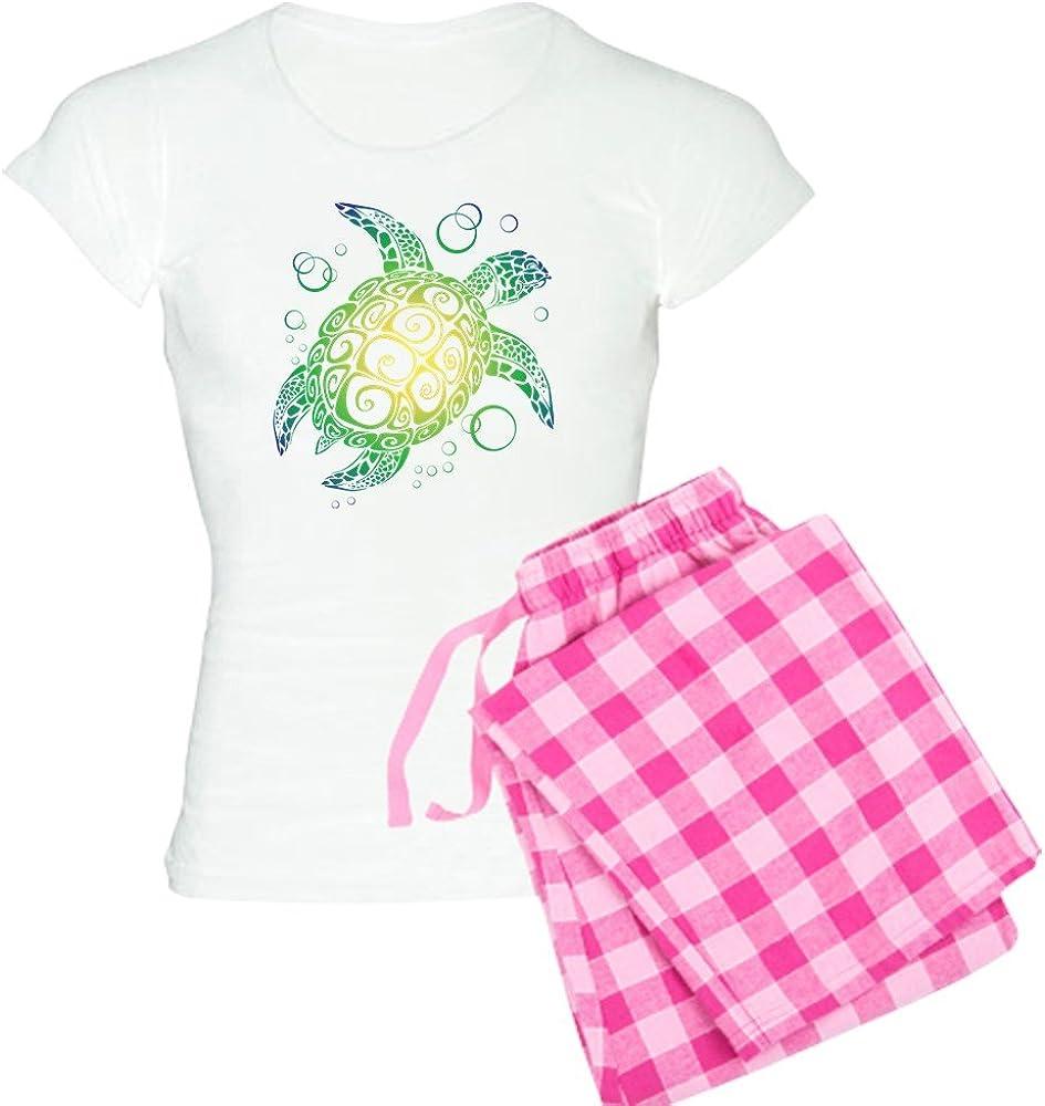 CafePress Sea Turtle Pajamas Womens Novelty Cotton Pajama Set Comfortable PJ Sleepwear