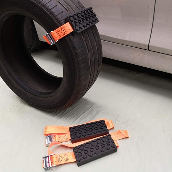 HOPQ 2 piezas//juego de cadenas de nieve antideslizantes para ruedas para hielo//nieve//barro//arena para conducir accesorios de coche seguros