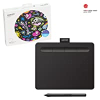 Wacom CTL4100 Art Tablet with Free Creative Software Download, Corel Painter Essentials, Corel Aftershot, Small, Black