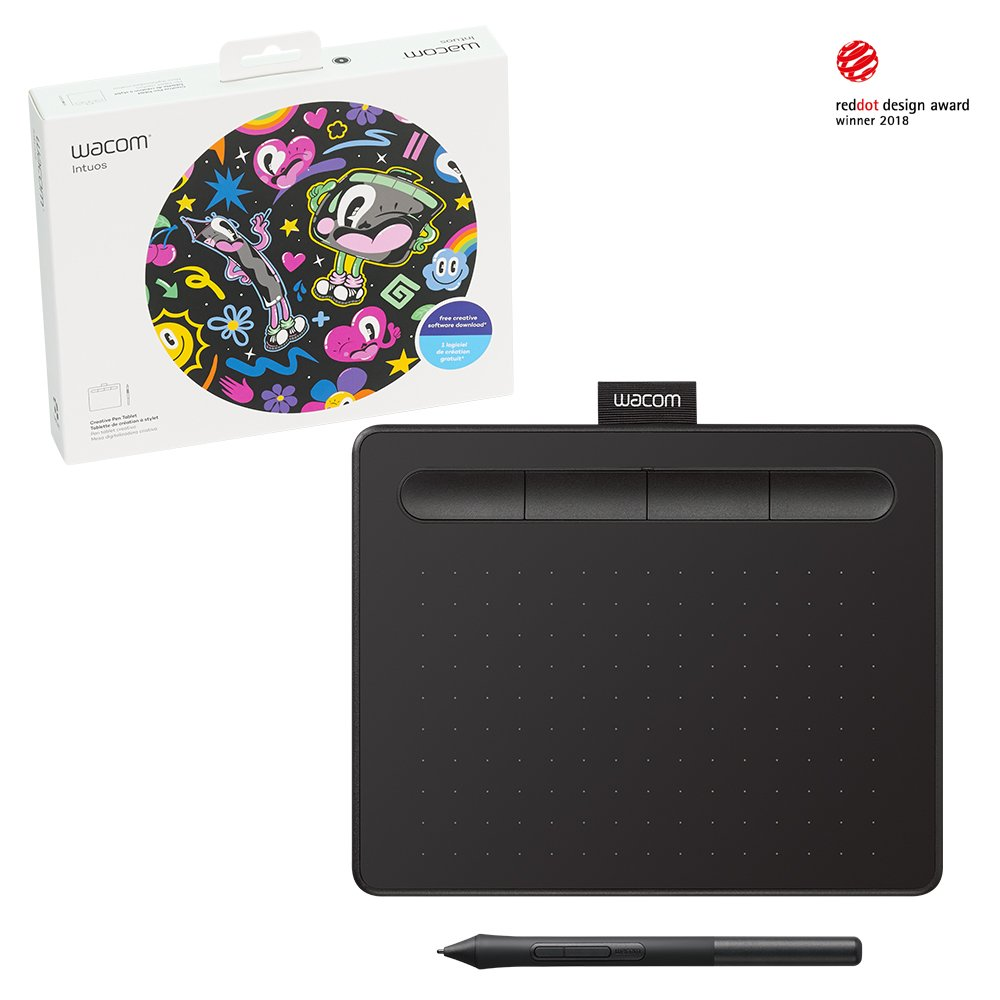 Wacom Intuos Drawing Tablet, with Free Creative Software Download, 7.9''x 6.3'', Black (CTL4100)