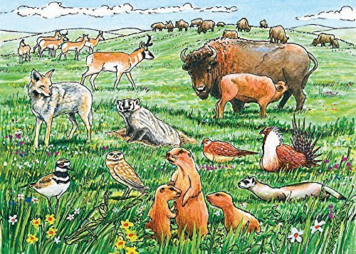Cobble Hill Life in the Prairie Jigsaw Puzzle, 35-piece by Cobble Hill