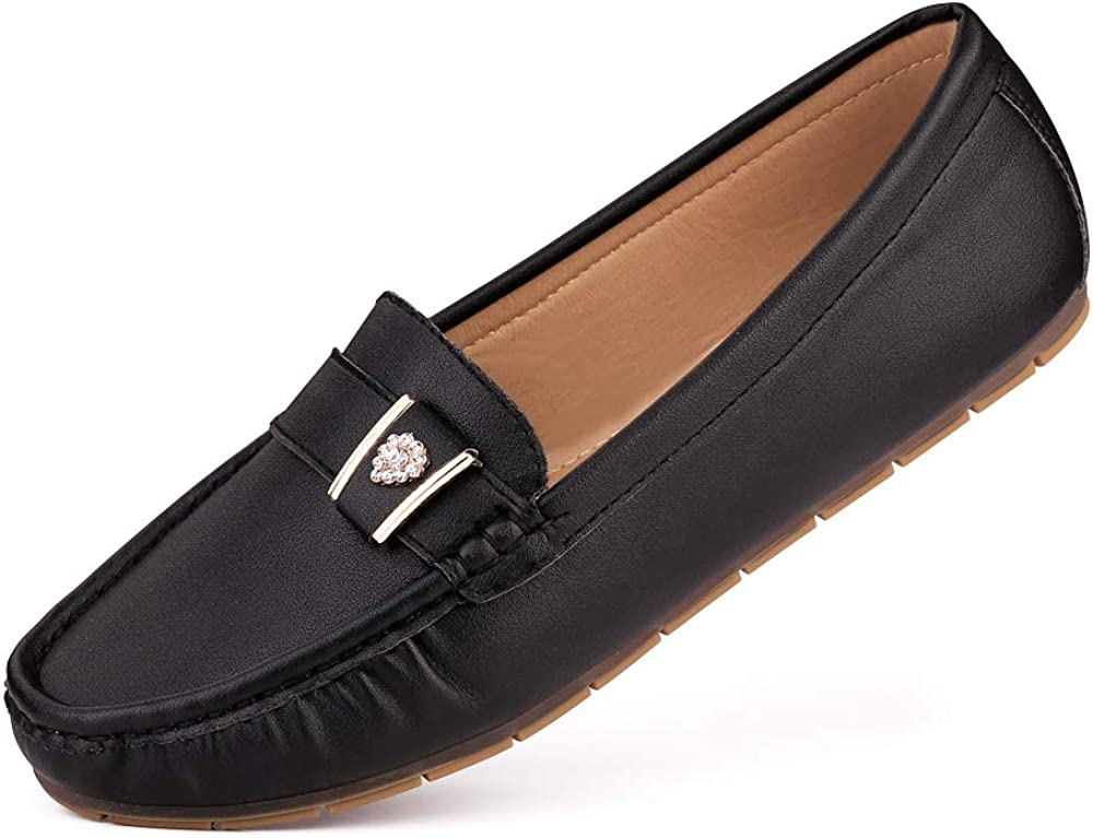 sorliva Women's Leather Penny Loafers