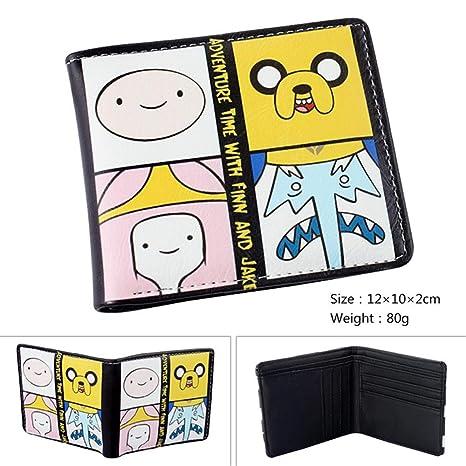 SWVV Paquete de Tarjeta Monedero Unisex Anime Hombre y Mujer Aventura Juego en Vivo Short Fold