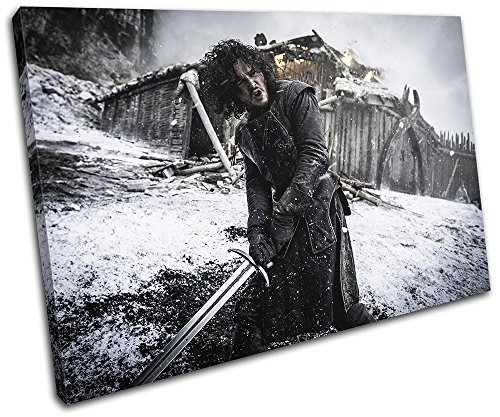 Bold Bloc Design   Game Of Thrones Jon Snow Aegon Tv 60X40cm Single Canvas Art Print Box Framed Picture Wall Hanging   Hand Made In The Uk   Framed And Ready To Hang 13 2499 00B  Sg32 Lo B