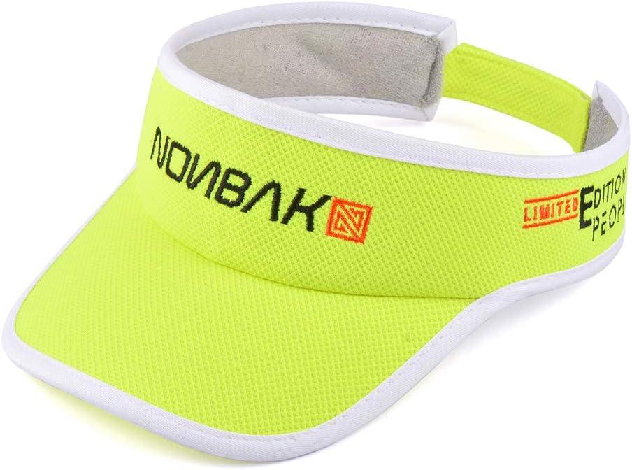 Casual, Nonbak Visera//Visor Unisex Talla /única Muy Ligera Running Pack Amarilla Deportes Outdoor Aire Libre