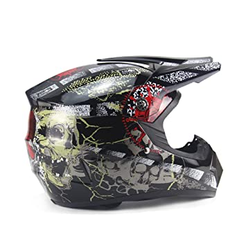 DUEBEL Casco de Motocrós de Calavera Pirata para BMX / Downhill / Cross-country /