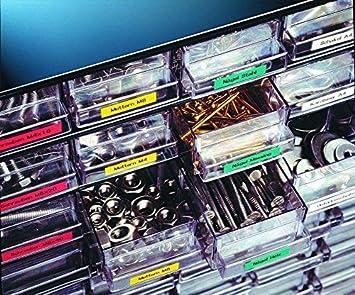 Neouza compatibile per DYMO Rhino IND vinyl Label tape 3//8 Black on White