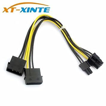 XT-XINTE 8Pin a Dual Puerto Conector Grande de 4 Pines ...