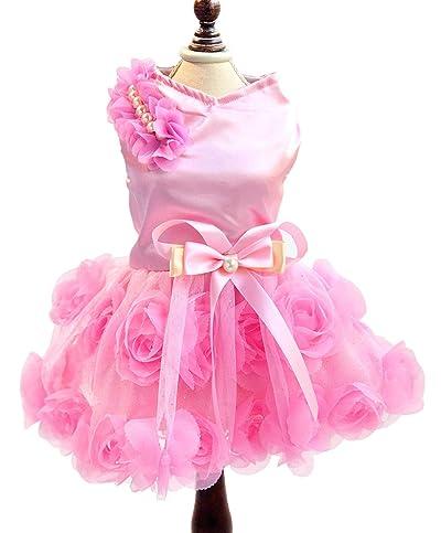SMALLLEE_LUCKY_STORE Dog Dress,Dog Wedding Dress,Dog Birthday Dress,Dog Tutu Dress