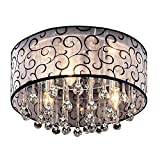 DINGGU™ 4 Lights Flush Mounted Modern Drum Ceiling Light Chandelier Lamp Fixtures Rain Drop Decoration