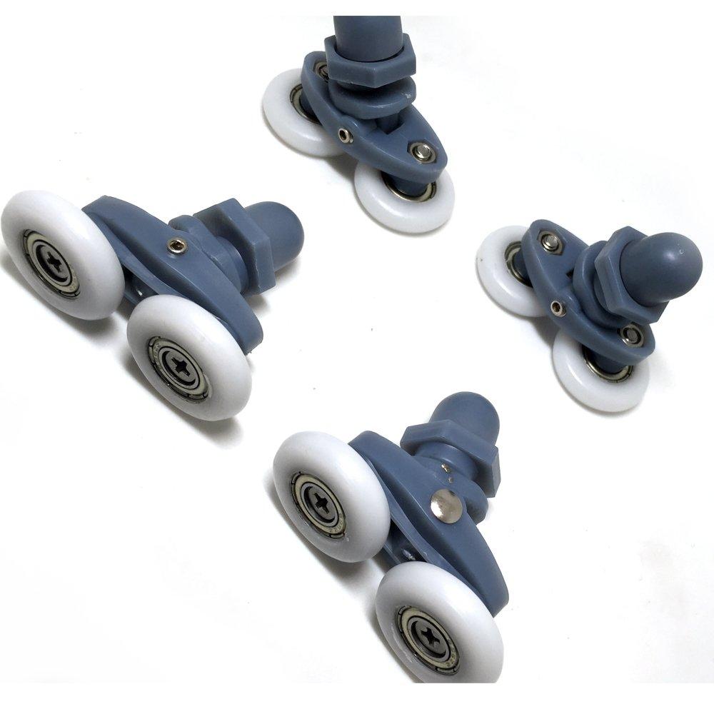 Shower Door Rollers/Wheels/Runners/Pulleys/Double/Twin/808/20mm/4pcs/Rollicom