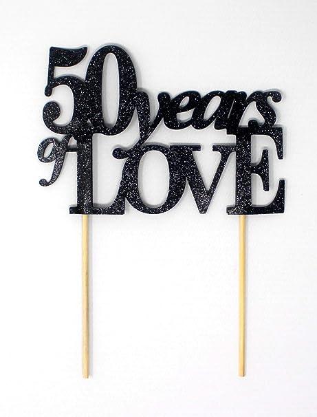 All About Details - Decoración para tarta de 50 años de amor ...